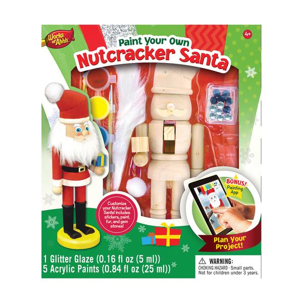Works of Ahhh Wood Painting Kit Nutcracker Santa