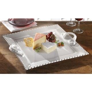 American Atelier Bianca Bead Sqaure Platter