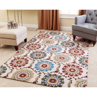 ABBYSON LIVING Hand-tufted Willow New Zealand Wool Rug (5' x 8')