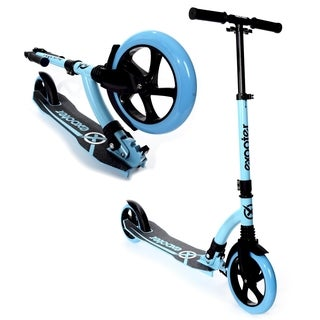 EXOOTER M1550BB Vibrant Blue 6XL Adult Kick Scooter with Front Shocks And 180mm/240mm Wheels