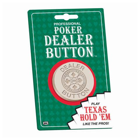 Professional Poker Dealer Button