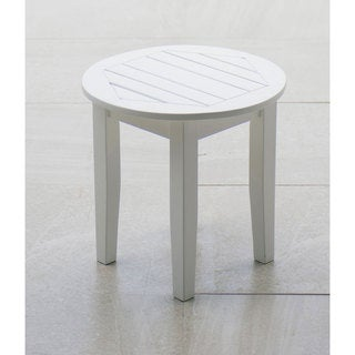 Alston White Side Table