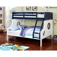 Shop Farah Youth Twin Over Full Sailor Bunk Bed Oak