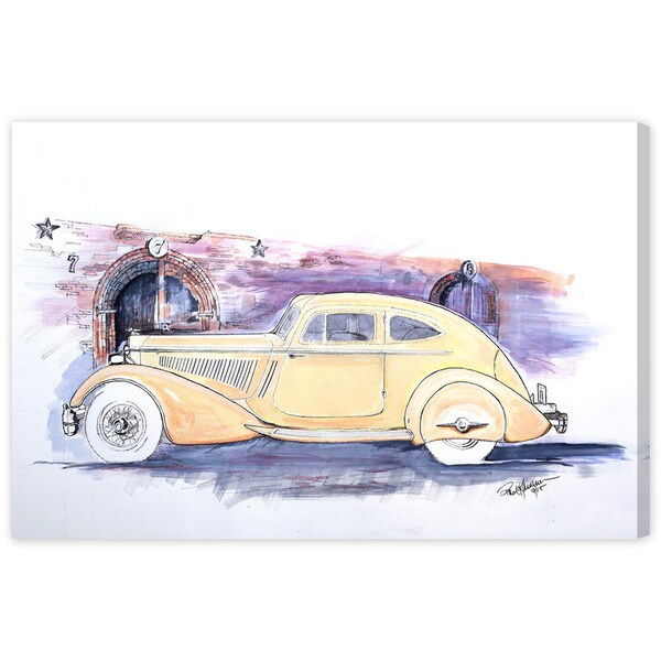 Paul Kaminer '1934 Packard V-12 Sport Coupe' Canvas Wall Art