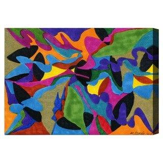 Manuel Roman 'Winding Rivers' Canvas Wall Art