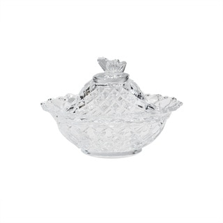 Fifth Avenue Crystal Butterfly Dish with Lid