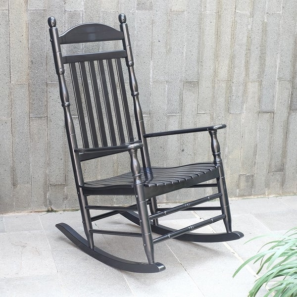 Alston Traditional Black Rocking Chair