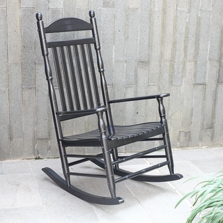 Alston Traditional Black Rocking Chair
