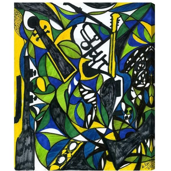 Shop Manuel Roman \'The Musicians\' Canvas Wall Art - Free Shipping ...