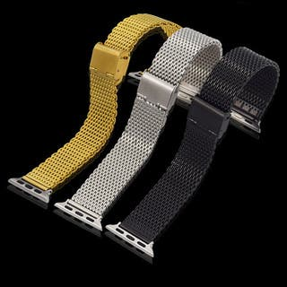 iPM Stainless Steel Mesh Milanese Loop Band for Apple Watch|https://ak1.ostkcdn.com/images/products/11502559/P18454308.jpg?impolicy=medium