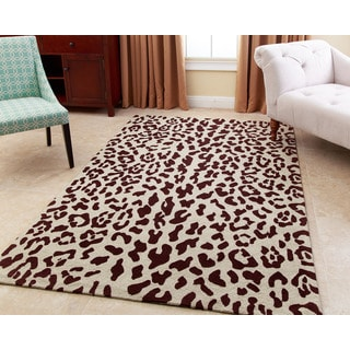 ABBYSON LIVING Hand-tufted Charlotte Maroon Brown New Zealand Wool Rug (3' x 5')