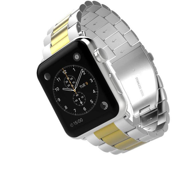 aa6349a4362 Shop iPM Classic Two-tone Buckle Watch Band for Apple Watch - Free ...
