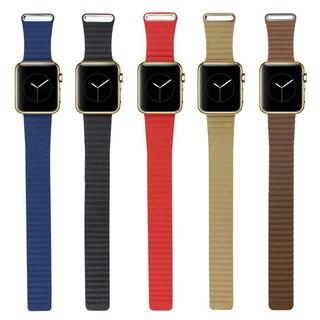 iPM Leather Bracelet with Magnetic Closure for Apple Watch (More options available)
