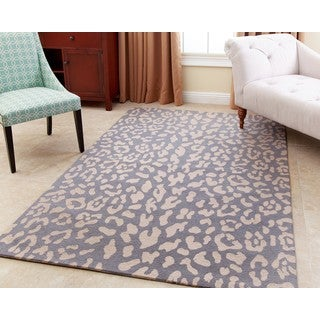 ABBYSON LIVING Hand-tufted Charlotte Light Blue New Zealand Wool Rug (5' x 8')