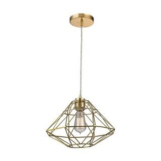 Sterling Paradigm 1-light Gold Pendant