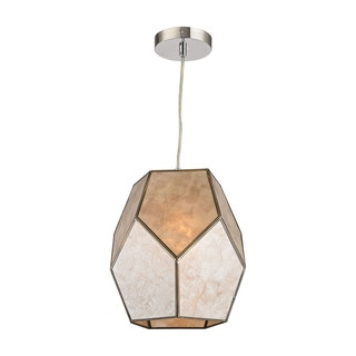 Sterling Home Therese 1-light Pendant in Natural Silver and Gold