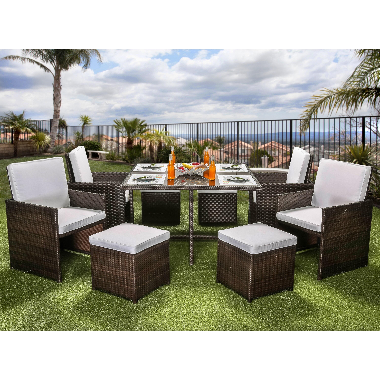 Furniture of America Ames Espresso 9-piece Outdoor Dining...