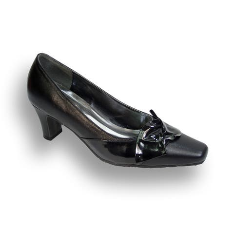 FIC PEERAGE Lori Womens Extra Wide Width Dress Pumps