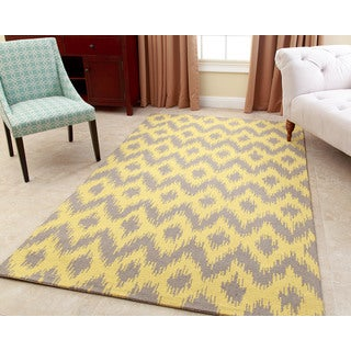 ABBYSON LIVING Hand-tufted Ellie Yellow New Zealand Wool Rug (5' x 8')