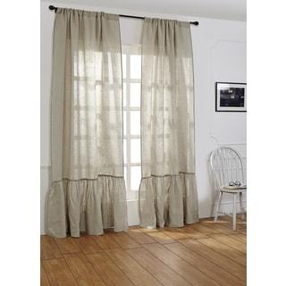Laila Linen 96-inch Curtain Panel - 42 x 96