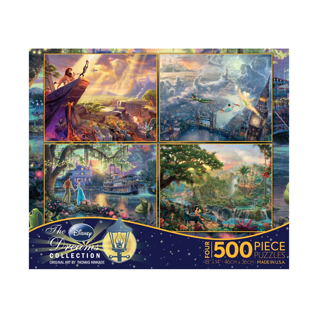 Ceaco Thomas Kinkade Disney Dreams 4-in-1 Jigsaw Puzzle M...