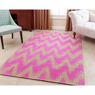 Abbyson Emily Fuschia Wool Rug (8' x 10')
