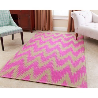 ABBYSON LIVING Hand-tufted Emily Pink New Zealand Wool Rug (3' x 5')
