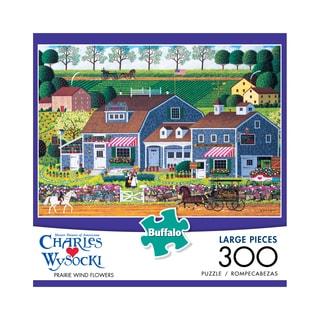Charles Wysocki Prairie Wind Flowers Large Piece Puzzle: 300 Pcs