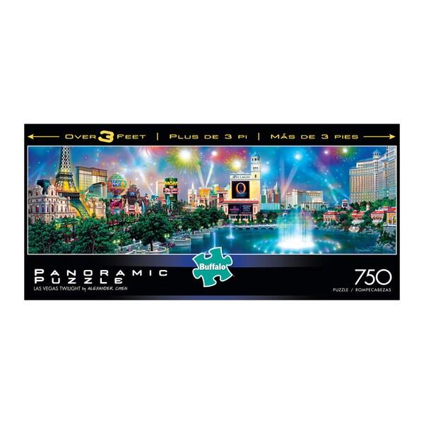 Alexander Chen Las Vegas Twilight Panoramic Puzzle: 750 Pcs