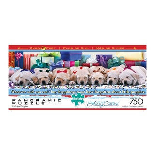Holiday Collection Holiday Puppies Panoramic Puzzle: 750 pcs