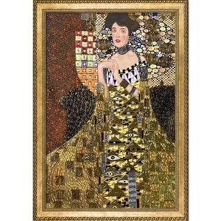 Gustav Klimt 'Portrait of Adele Bloch Bauer I' (Luxury Line) Hand Painted Framed Canvas Art