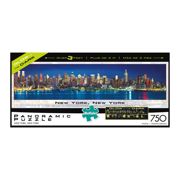 Panoramic Cityscape New York, New York Glow in the Dark Jigsaw Puzzle: 750 Pcs