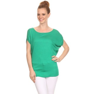 MOA Collection Women's Short Dolman Sleeve Top