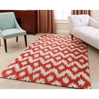 Abbyson Hand-tufted Ellie Orange New Zealand Wool Rug (5' x 8')|https://ak1.ostkcdn.com/images/products/11502778/P18454570.jpg?impolicy=medium