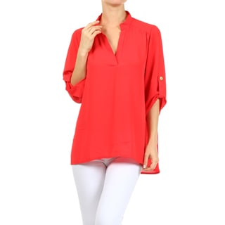 MOA Collection Women's Mandarin Collar Top
