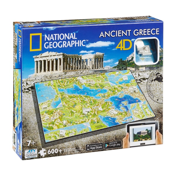 4D Cityscape Time Puzzle National Geographic Ancient Greece: 600 Pcs