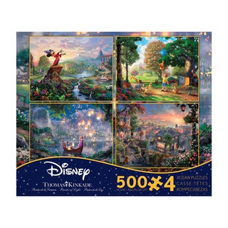 Thomas Kinkade Disney Dreams 4-in-1 Jigsaw Puzzle Multi-Pack Series 2: 4 x 500 Pcs
