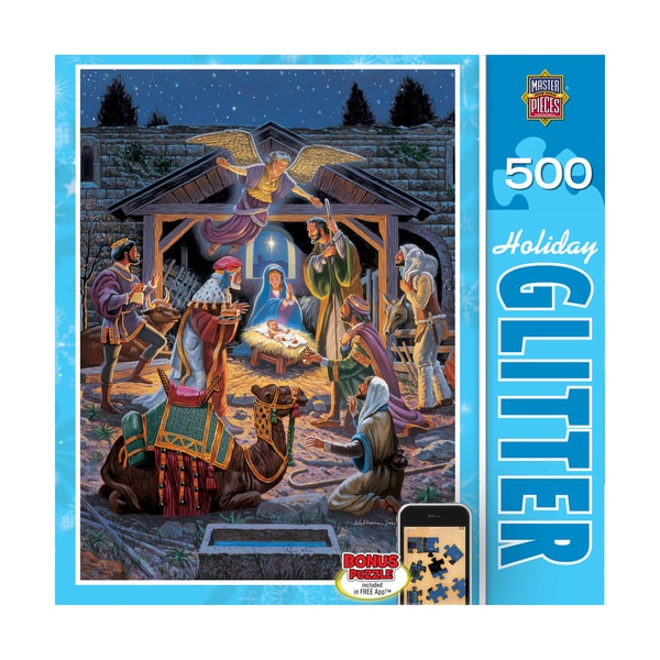 Holiday Glitter Puzzle Holy Night: 500 Pcs