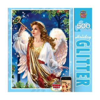 Holiday Glitter Puzzle Hark the Herald: 500 Pcs