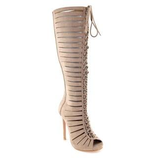 Bella Marie Vanesa-38 Knee High Gladiator Stiletto Boot