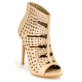 Bella Marie Vanesa-20 Perforated Ankle Booties