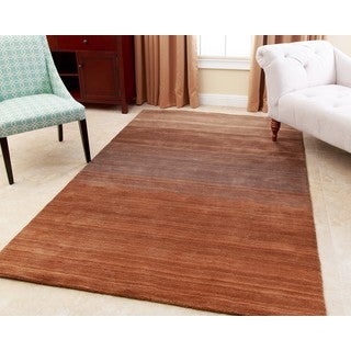 ABBYSON LIVING Hand-loom Knotted Alexia Multi-toned Brown New Zealand Wool Rug (8' x 10')