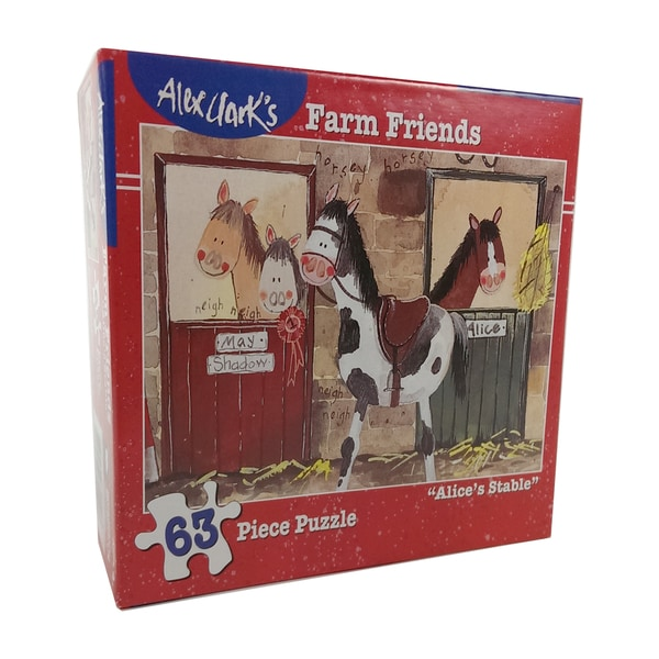 Alex Clark's Farm Friends Alice's Stable Puzzle: 63 Pcs