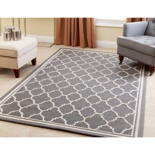 ABBYSON LIVING Hand-tufted Courtney Grey New Zealand Wool Rug (3' x 5')