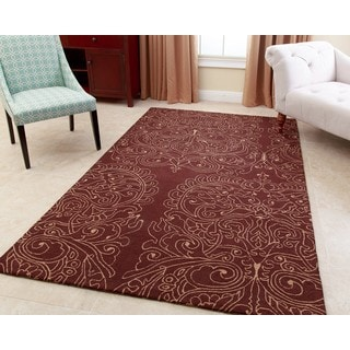 ABBYSON LIVING Hand-tufted Regal Brown New Zealand Wool Rug (5' x 8')