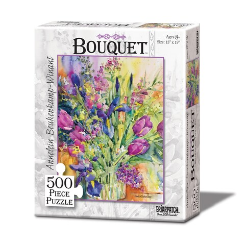 Bouquet Iris Blue and Tulips, Too Puzzle: 500 Pcs