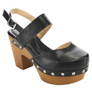 Beston Cd62 Women's Chunky Platform Heels