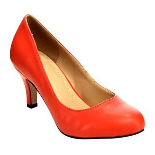 Beston Cd54 Women's Round Toe Mid Heels