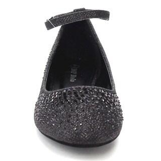 Beston CB82 Women's Sparking Rhinestone Ankle Strap Flats
