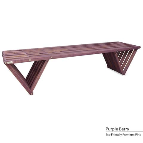 Backless Wood Bench 6' Made in America
